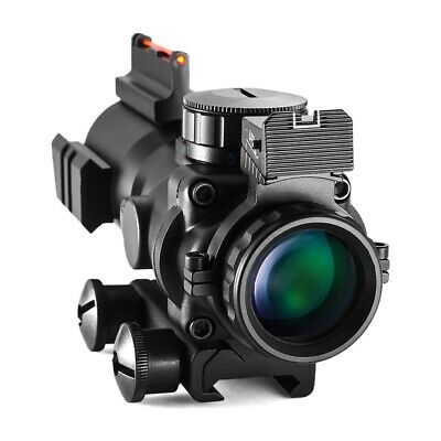 NEW 4x32 Acog Riflescope Tactical Optical Fiber Sight For Hunting Rifle Sniper