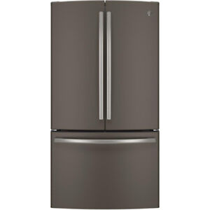 "GE Bottom Mount French Door Fridge 36"" Energy Star Slate colour"