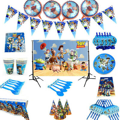 Toy Story Tablecloth (Toy Story Birthday Party Tableware Kids Tablecloth Balloons Banner)