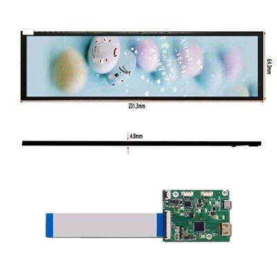 8.8 1920x480 Display Lcd Screen Hsd088ipw1-b00 60hz Mipi Usb Controller Board
