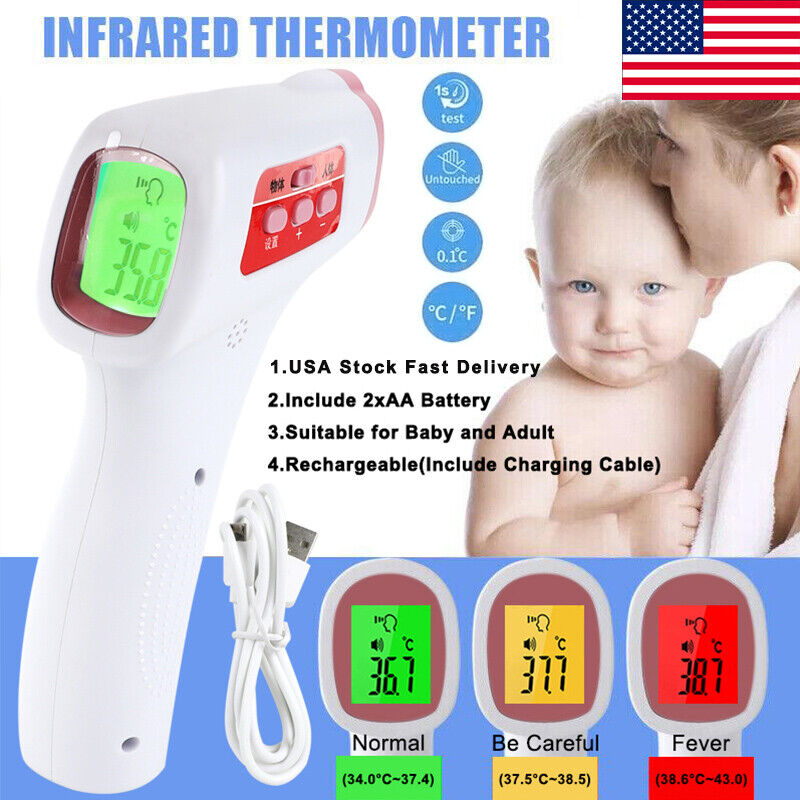 No-contact Touch Infrared Digital Lcd Thermometer Head Forehead For Baby Adult