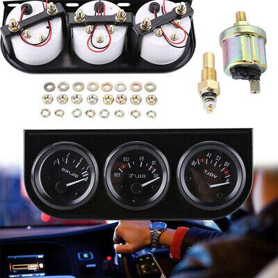 52mm DC 12V Zusatz Instrumente Öldruck Voltmeter Zusatzanzeige Öltemperatur