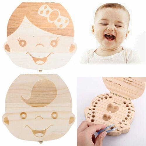 Milchzahn Box Holz Milchzähne Box Baby Milchzahndose Souvenir Geschenk fr Kinder