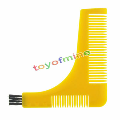 Beard Mustache Shaping Tool Kit Comb Groom Aid Face Neck Perfect Lines Shaving