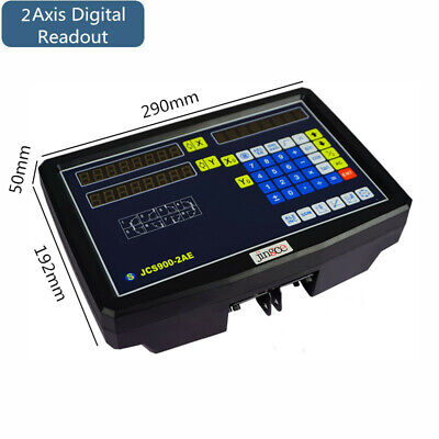 New 2 Axis Digital Readout Linear Scale Dro Display Cnc Milling Lathe Encoder
