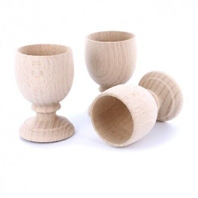 Paint Your Own Wooden Egg Cups Decorate Easter Crafts Assorted Pack Sizes 7x4cm