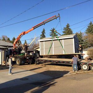 PICKER TRUCK FOR HIRE !!! HOIST SHEDS, HOT TUBS, BOULDERS ECT. Strathcona County Edmonton Area image 4