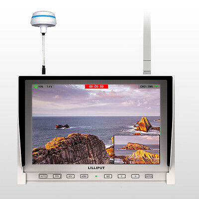Lilliput 339/DW FPV 1280X800 Wireless Monitor 5.8Ghz Receiver battery Fatshark