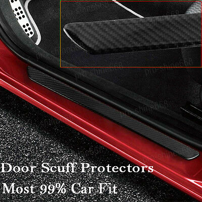 Carbon Fiber Car Scuff Plate Door Sill Cover Panel Step Protector Guard 49Cm D