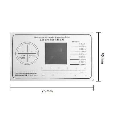 Calibration Ruler Transparent Film Pet Microscope Accessories Micrometer 75x45mm