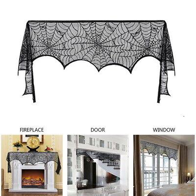 Spitze Halloween Requisiten Türvorhang Tischläufer Skelett Teppiche Tischdecke L