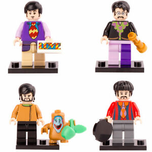 The Beatles Lego Figures - Set of 4 - $15