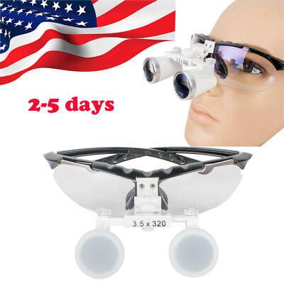 Dental Dentist Surgical Medical Binocular Loupes 3.5x 320mm Optical Glass Study