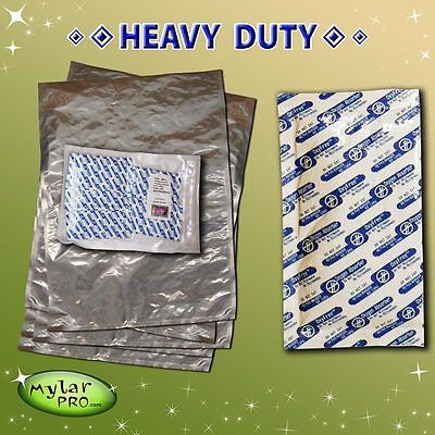 5 - 6 Gallon 20x30 MylarPro Mylar Bags & Oxygen Absorbers Long Term Food Storage