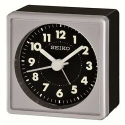 *BRAND NEW* Seiko Bedside Black Dial Alarm Clock Watch QHE083SLH