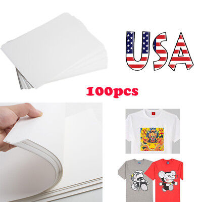 100pcspack A4 Dye Sublimation Heat Transfer Paper For Polyester Cotton T- Shirt