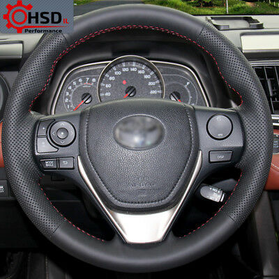 Best Hand Sewing Leather Steering Wheel Cover For Toyota RAV4 2013 2014