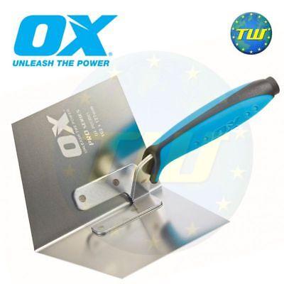 OX Tools 4x5in Plastering Internal Inside Corner Trowel Stainless Steel P013001
