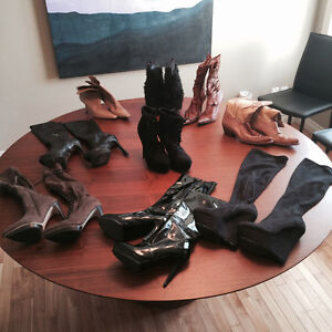 9 pairs of women's boots size 7.5 to 8