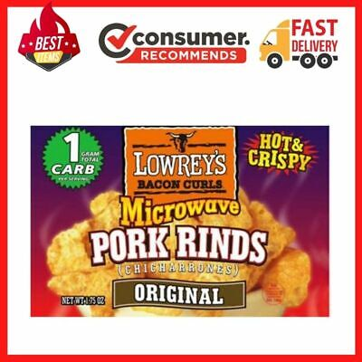 Lowrey's Microwave Pork Rinds, Original, 1.75 OZ, 18 Count