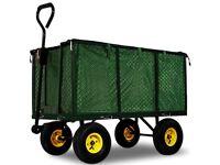 Large Garden Dump Truck Tipping Trailer Trolley Cart Wheelbarrow Heavy Duty