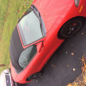 1999 Mitsubishi Spider Eclipse Red Convertible