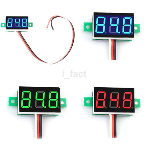 DC 0-30V LED 3-Digital Diaplay Voltage Voltmeter Panel Meter with 3 Wires 3color