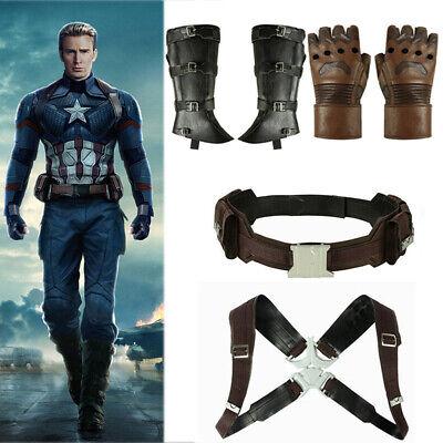 Avengers4 Endgame Costume Captain America Steven Rogers Cosplay Belt Strap Props](Captain America Men Costume)