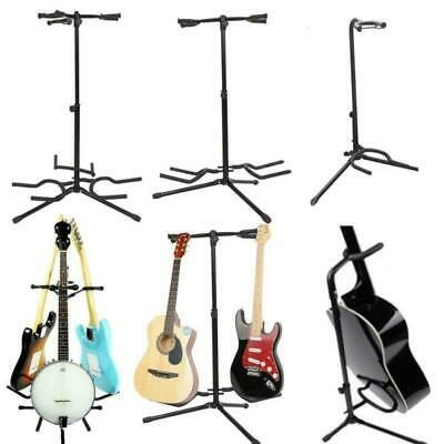 Tripod Guitar Stand Violin Bass Acoustic Electric Guitar Rack Floor Holder Black