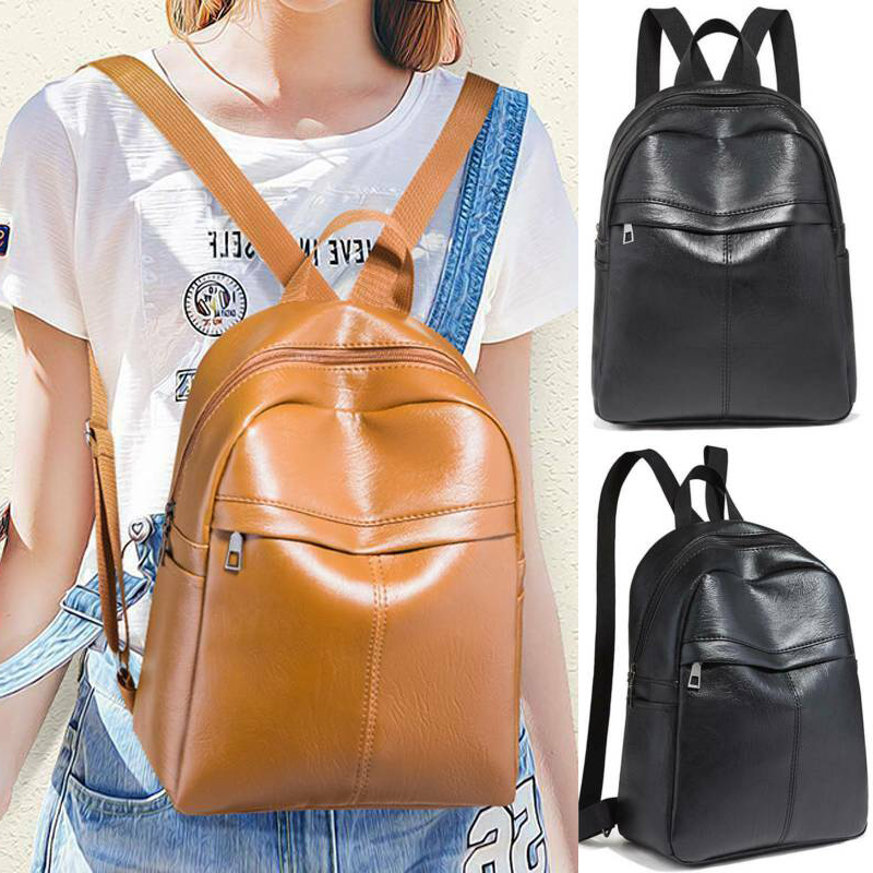 Women Retro Style Satchel Girls School Book Bags Backpack Sh