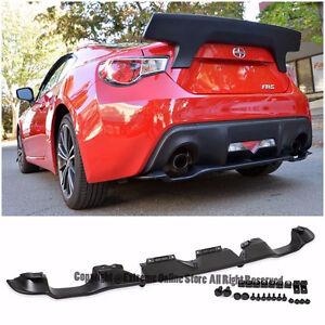 For 13-Up Scion FR-S Subaru BRZ Rear Bumper Lower Spoiler Air Fl