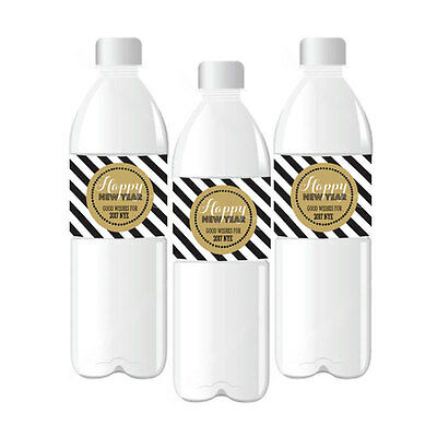 Personalized New Years Eve Water Bottle Labels New Years Party Wedding Favors