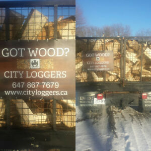 Whitby Oshawa Seasoned Hardwood Firewood Delivery Sale