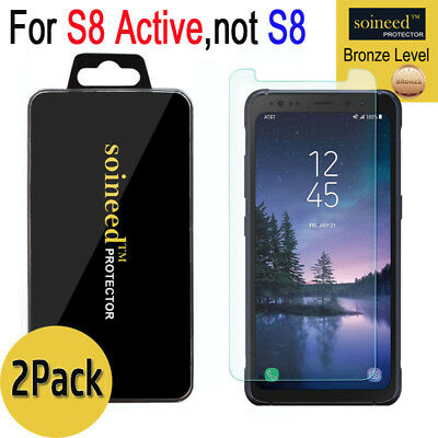 [2-Gather together] SOINEED Samsung Galaxy S8 ACTIVE Tempered Glass Screen Protector Saver