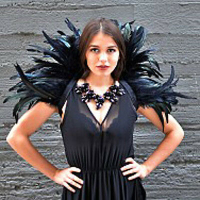 High Feather Collar Empress Sexy Bird Angel Adult Halloween Costume Accessory