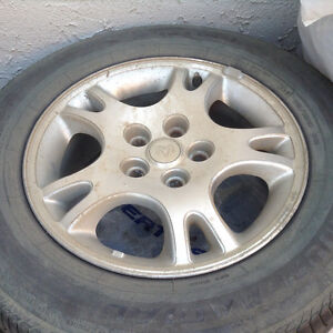 Tires on rims for van!