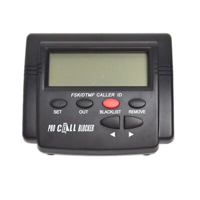 LCD Telephone Call Blocker Stop Spam Calls Safety Security Caller Black