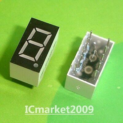 50 Pcs 1 Digit 0.36 Inch Green 7 Segment Led Display Common Cathode Sm2203619