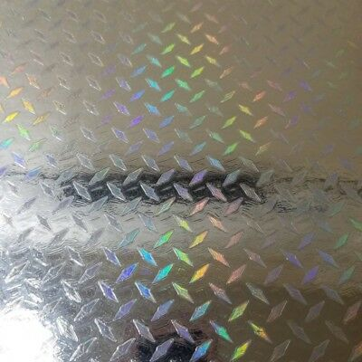 Silver Mini Diamond Plate Holographic Sign Plotter Cutter Vinyl Roll