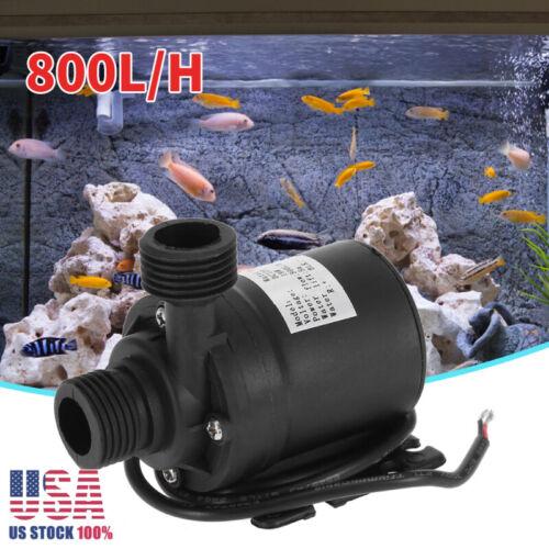 Ultra Quiet Mini DC 12V Lift 5M 800L/H Brushless Motor Subme
