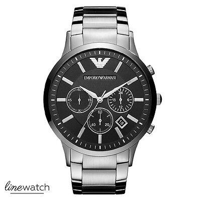 Emporio Armani AR2460 Sportivo Herrenuhr Chronograph Uhr Silberfarben NEU OVP online kaufen