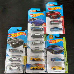 Hot Wheels NSX, F&F WRX STi, BMW M, Datsun, Skyline GTR, EF CRX