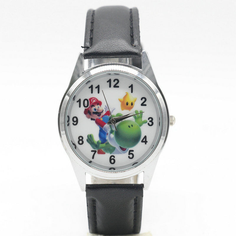 Super Mario Bros Uhr Junge Kind Mädchen Yoshi Erste Armbanduhr für Kinder