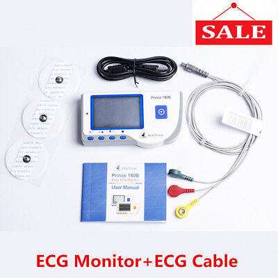 Heal Force Prince 180b Handheld Easy Ecg Ekg Portable Heart Monitorecg Cable