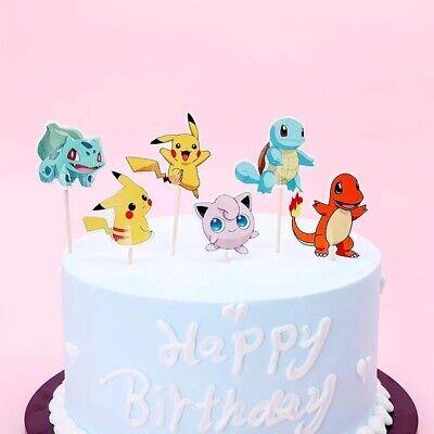 24 Kuchenstecker Topper Pikatchu Pokemon Jungs Cupcake Geburtstag Piekser Muffin