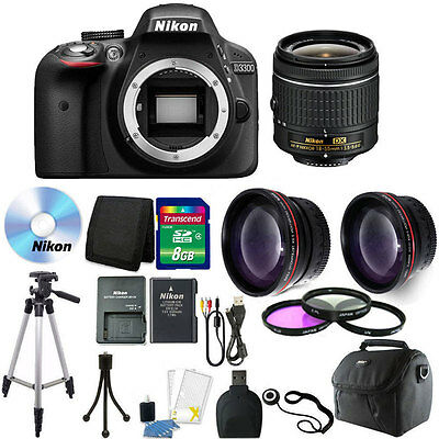 Nikon D3300 Digital SLR Camera with 18-55mm + Top Accessory Kit!