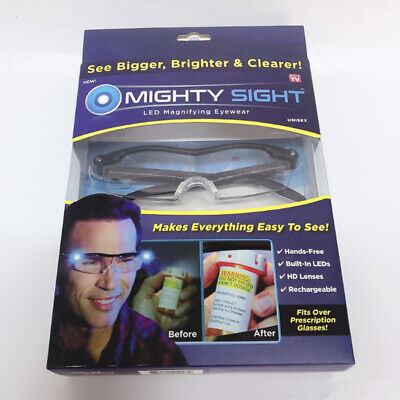 MIGHTY SIGHT LED MAGNIFYING EYEWEAR HD RECHARGEABLE GLASSES - AS SEEN ON TV