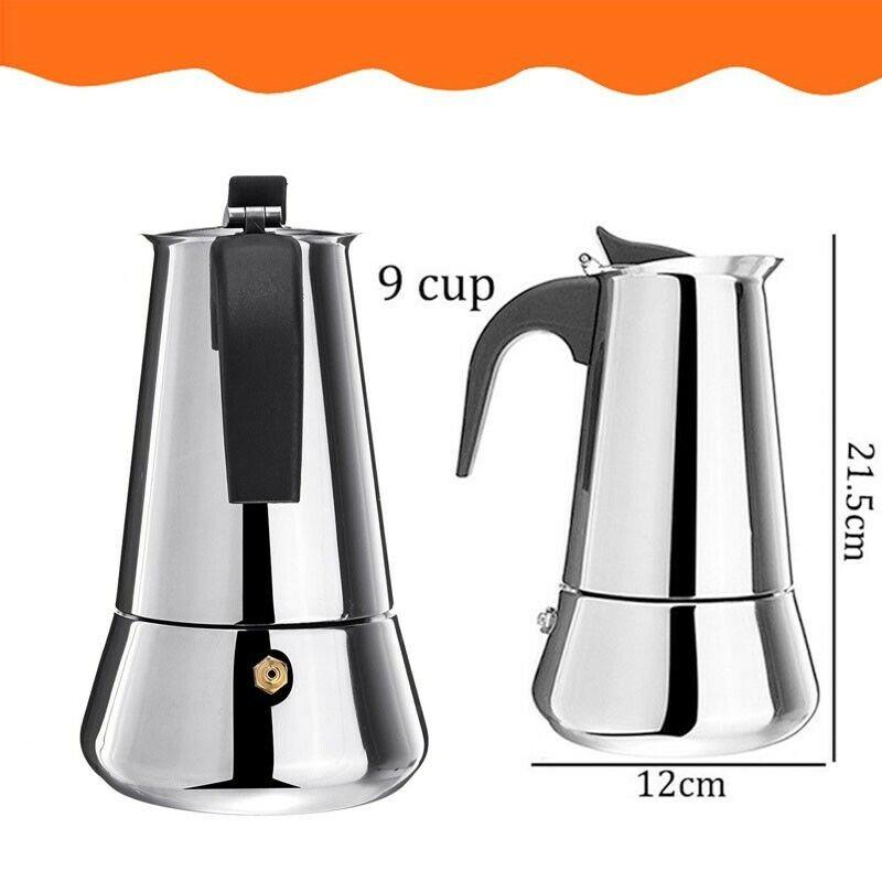 Coffee Tea Maker Pot Stainless Steel Mocha Espresso Latte Pe