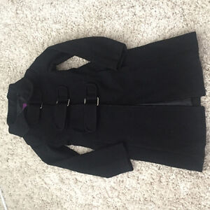 Black wool/cashmere jacket Small