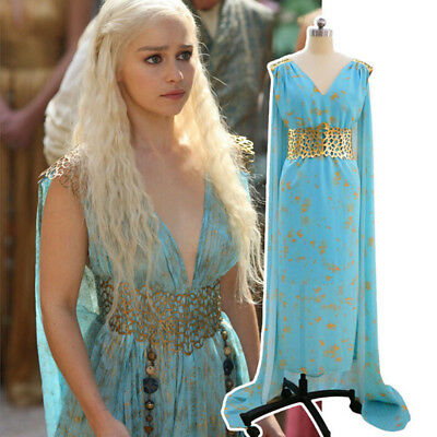 Game of Thrones Cosplay Daenerys Targaryen Halloween Kostüm Kostüm Perücke